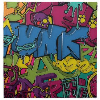 Arte colorido, enrrollado y urbano de la pintada servilleta imprimida