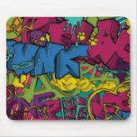 Arte colorido, enrrollado y urbano de la pintada alfombrillas de ratón