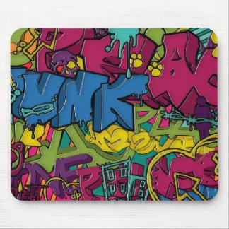 Arte colorido, enrrollado y urbano de la pintada alfombrillas de ratones