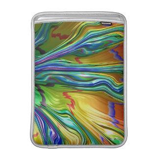 Arte colorido fresco abstracto del árbol del funda para macbook air