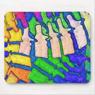 Arte colorido Mousepad de la espina dorsal Tapete De Ratones