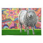 Arte colorido Placemat de las ovejas Mantel