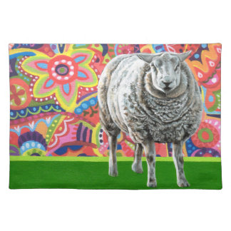 Arte colorido Placemat de las ovejas Manteles Individuales