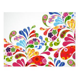 Arte colorido tarjeta postal