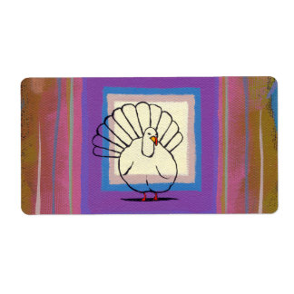 Arte colorido único de los pegatinas del pavo de etiqueta de envío