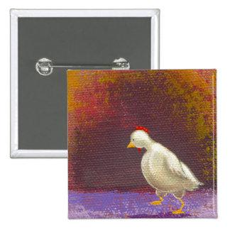 Arte colorido único de pensamiento de la diversión pin cuadrada 5 cm
