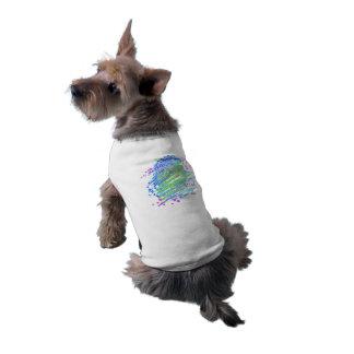 Arte colorido único del perro del estallido del playera sin mangas para perro