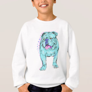 Arte colorido único del perro del estallido del playeras