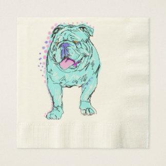 Arte colorido único del perro del estallido del servilletas desechables
