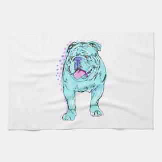 Arte colorido único del perro del estallido del toallas de cocina