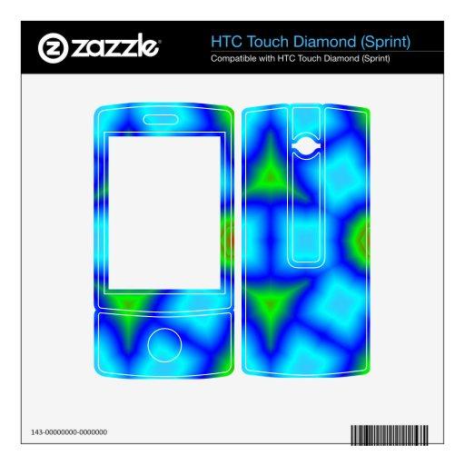 Arte colorido único HTC touch diamond calcomanías