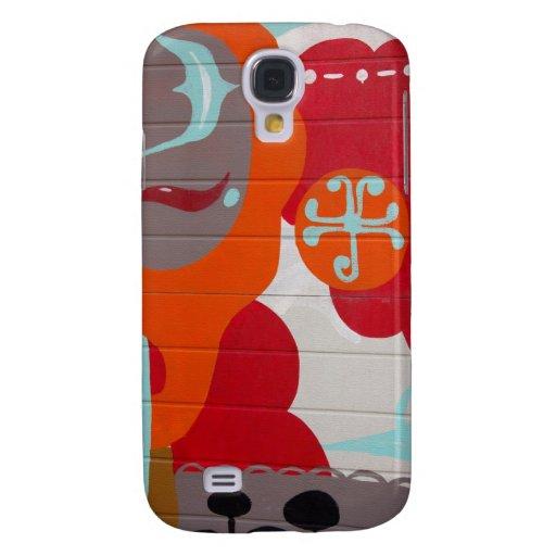 ARTE colorido v1 del fondo de la pintada Funda Para Galaxy S4