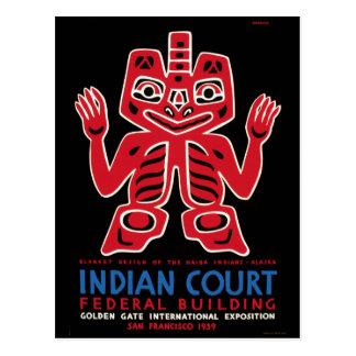 Arte combinado indio WPA del Haida del vintage Postales