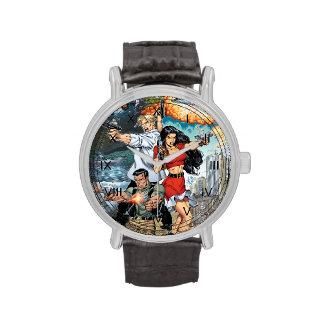 arte cómico de la acción del guisado de B@stard po Relojes De Mano