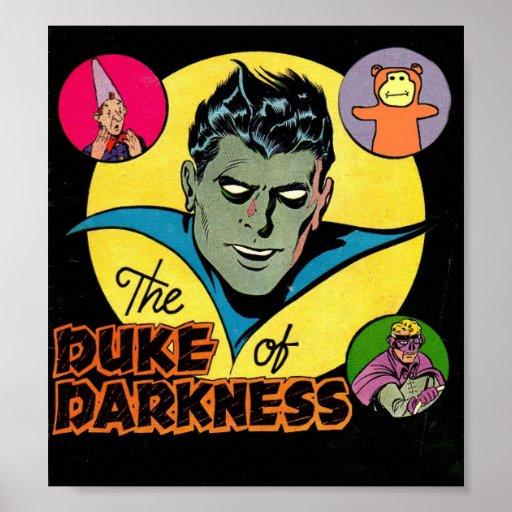 Arte cómico de la época dorada - duque de la oscur póster