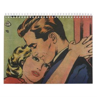 Arte cómico de la época dorada - todos los calendario de pared