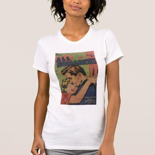 Arte cómico de la época dorada - todos los romance camisetas