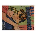 Arte cómico de la época dorada - todos los romance tarjetas postales
