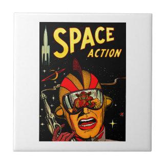 Arte cómico del astronauta de la ciencia ficción d teja