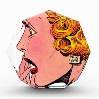 Arte cómico del chica de la novela romántica del v