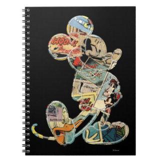 Arte cómico Mickey Mouse Libro De Apuntes Con Espiral