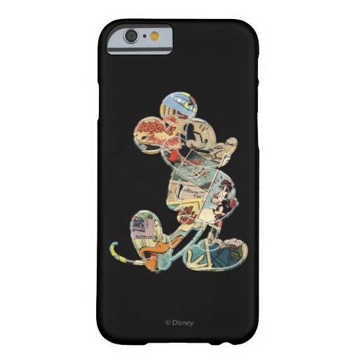 Arte cómico Mickey Mouse Funda De iPhone 6 Barely There