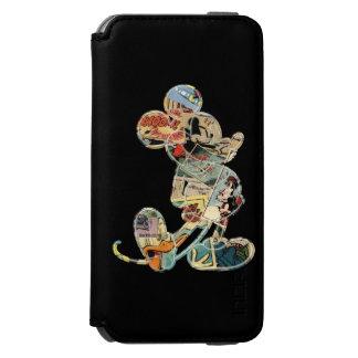 Arte cómico Mickey Mouse Funda Billetera Para iPhone 6 Watson