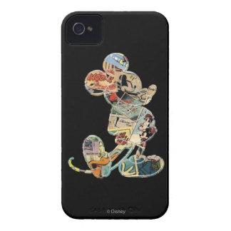 Arte cómico Mickey Mouse iPhone 4 Protectores