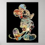 Arte cómico Mickey Mouse Poster