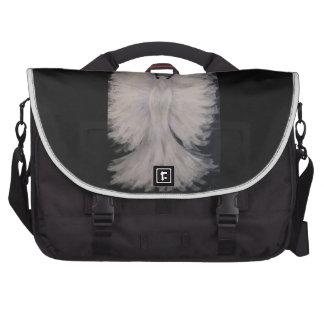 Arte con alas hermoso de la pintura del ángel de bolsas para portatil