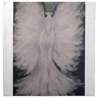 Arte con alas hermoso de la pintura del ángel de servilleta imprimida