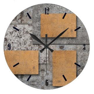 Arte con el reloj de pared concreto, abstracto