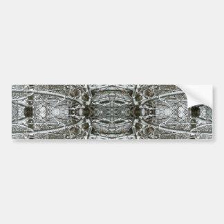 Arte congelado del fractal del extracto del caleid pegatina para auto