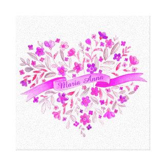 Arte conocido púrpura de la acuarela del rosa del impresiones en lona estiradas