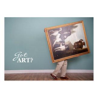 ¿Arte conseguido? Tarjetas de visita rechonchas