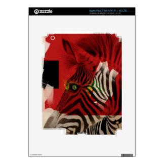 Arte contemporáneo abstracto de la cebra 4,0 iPad 3 skins