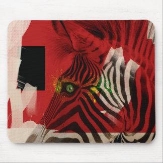 Arte contemporáneo abstracto de la cebra 4,0 tapete de raton