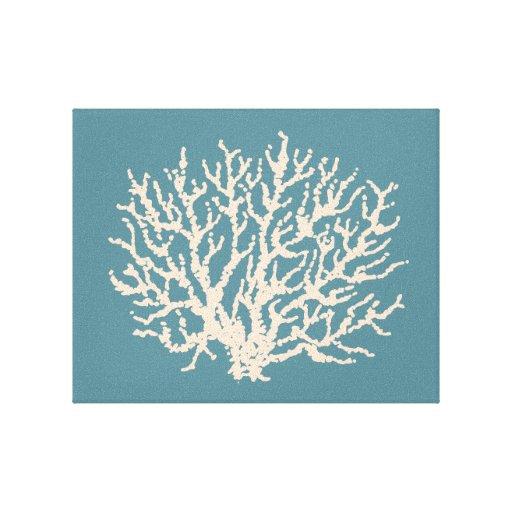 Arte coralino de la pared del mar impresión de lienzo