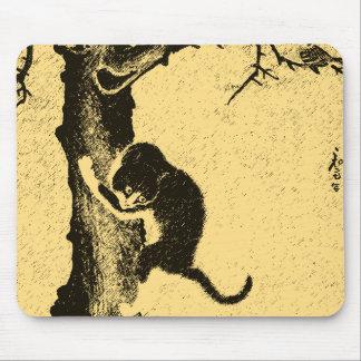 Arte coreano del gato del vintage tapetes de ratón