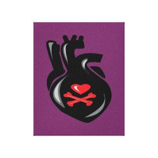 Arte corrompido de la lona del amor impresión en tela