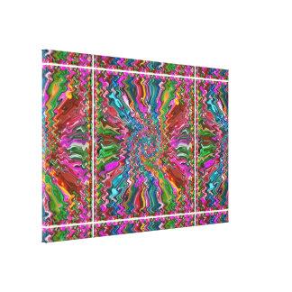 Arte cósmico abstracto de la explosión - espectro impresion de lienzo