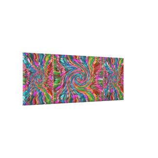 Arte cósmico abstracto de la explosión - espectro lienzo envuelto para galerías