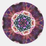 Arte cósmico púrpura de la mandala del pegatina