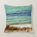Arte costero del verano de la almohada de la playa