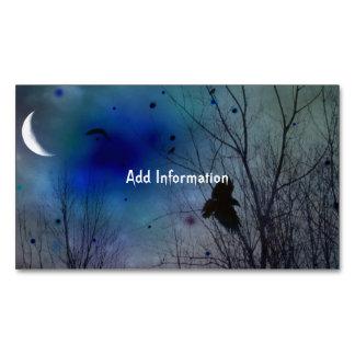 Arte creciente del cuervo de la fantasía de la tarjetas de visita magnéticas (paquete de 25)