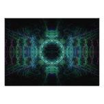"""Arte """"crepuscular"""" azul del fractal que brilla int"""