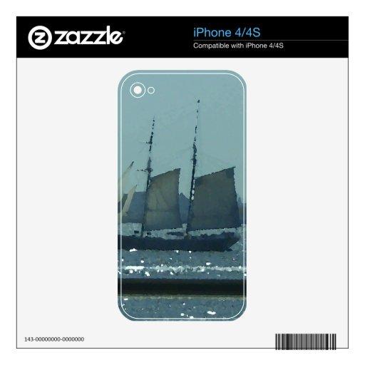 Arte CricketDiane del velero del barco de la nave Skins Para iPhone 4S