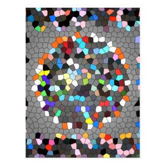 Arte cristalino de los puntos de los pixeles postal