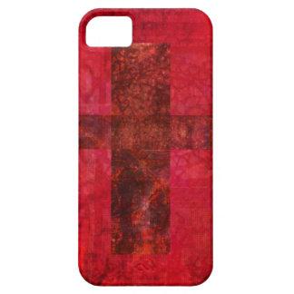 Arte cristiano contemporáneo CRUZADO iPhone 5 Carcasa
