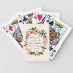 Arte cristiano de la cita - 1 5:6 de Peter Baraja Cartas De Poker